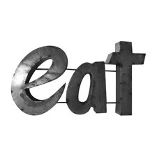 """""""Eat"""" Sign with Rebar Décor"""