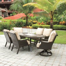 Jakarta 7 Piece Dining Set with Cushions