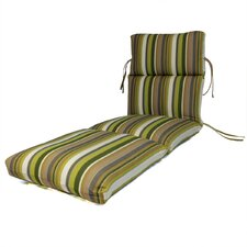 Channeled Outdoor Sunbrella Chaise Cushion