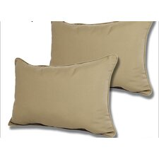 Outdoor Sunbrella Reversible Lumbar Pillow (Set of 2)