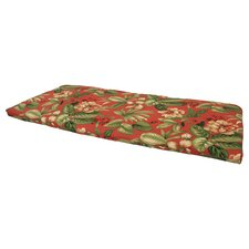 Tropical Brick Outdoor Trapezoid Bench Cushion