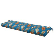 Peacock Leaf Outdoor Bench Cushion