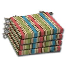Stripe Outdoor Chair Cushion (Set of 4)
