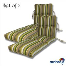 Outdoor Sunbrella Chaise Cushion (Set of 2)