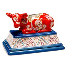 French Meadows 3-D Cow Butter Dish