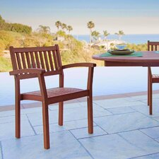 Stacking Dining Arm Chairs (Set of 4)