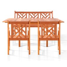 Malibu 4 Piece Dining Set