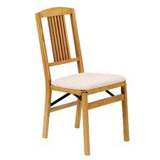 Simple Mission Wood Folding Chair Oak (Set of 2)