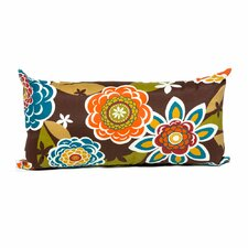 Retro Floral Outdoor Lumbar Pillows Rectangle 11x22 (Set of 2) (Set of 2)