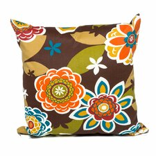 Retro Floral Outdoor Throw Pillows Square 18x18 (Set of 2) (Set of 2)