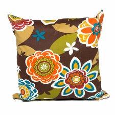 Retro Floral Outdoor Throw Pillows Square 18x18 (Set of 2) (Set of 2)