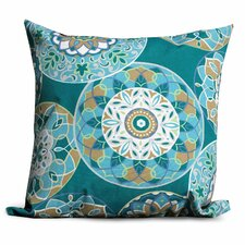 Wonderful Teal Sundial Outdoor Throw Pillows Square 18x18 (Set of 2) (Set of 2)