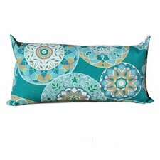 Teal Sundial Outdoor Lumbar Pillows Rectangle 11x22 (Set of 2) (Set of 2)
