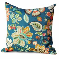 Wild Flower Outdoor Throw Pillows Square 18x18