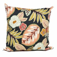 Find Black Tropical Floral Outdoor Throw Pillow (Set of 2)