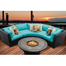Barbados 4 Piece Fire Pit Seating Group with Cushion