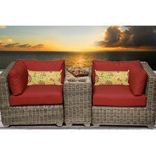 Cape Cod 3 Piece Deep Seating Group with Cushion