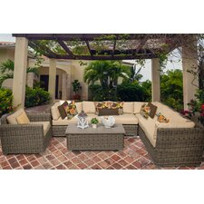 Cape Cod 8 Piece Deep Seating Group with Cushion