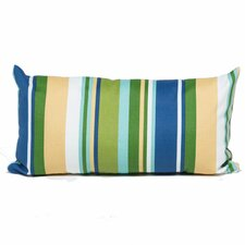 Blue Stripe Outdoor Lumbar Pillow Rectangle 11x22 (Set of 2) (Set of 2)