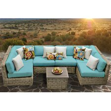 Cape Cod 7 Piece Deep Seating Group with Cushion