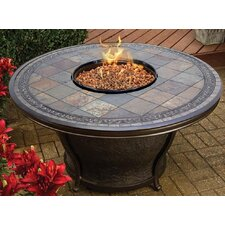 Tempe Slate Top Gas Fire Pit Table