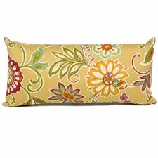 Golden Floral Outdoor Throw Pillows Rectangle 11x22 (Set of 2) (Set of 2)