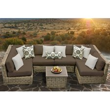 Today Sale Only Cape Cod 7 Piece Deep Seating Group with Cushion