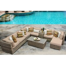Cape Cod 10 Piece Deep Seating Group with Cushion