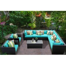 Barbados 10 Piece Deep Seating Group with Cushion