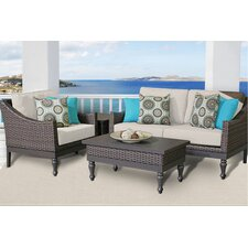 Manhattan 4 Piece Deep Seating Group with Cushion