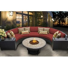 Barbados 6 Piece Fire Pit Seating Group with Cushion