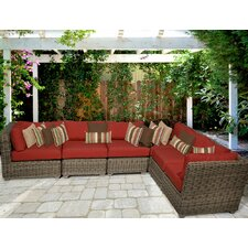 Top Reviews Cape Cod 6 Piece Deep Seating Group with Cushion