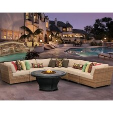 Laguna 5 Piece Fire Pit Seating Group with Cushion