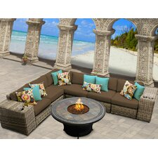 Cape Cod 9 Piece Fire Pit Seating Group with Cushion