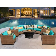 Laguna 8 Piece Fire Pit Seating Group with Cushion