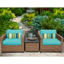 Laguna 3 Piece Deep Seating Group with Cushion