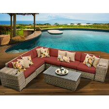 Cape Cod 9 Piece Deep Seating Group with Cushion