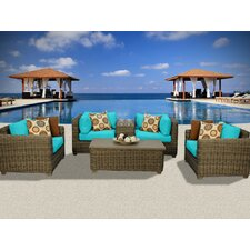 Cape Cod 6 Piece Deep Seating Group with Cushion