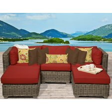 Cape Cod 5 Piece Deep Seating Group with Cushion