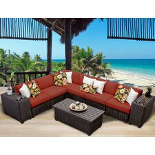 Read Reviews Venice 9 Piece Deep Seating Group with Cushion