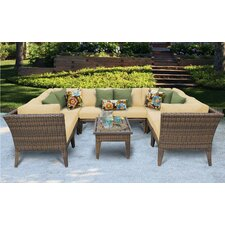 Wonderful Manhattan 9 Piece Deep Seating Group with Cushion