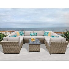 Monterey 9 Piece Deep Seating Group with Cushion