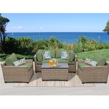 Wonderful Monterey 5 Piece Deep Seating Group with Cushion