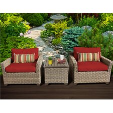 Monterey 3 Piece Deep Seating Group with Cushion