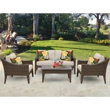Manhattan 5 Piece Seating Group with Cushion