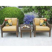 Manhattan 3 Piece Seating Group with Cushion