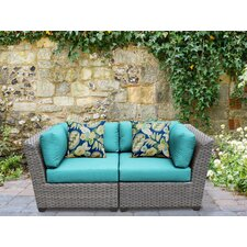 Florence 2 Piece Lounge Seating Group Set with Cushion