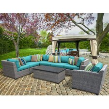 Florence 8 Piece Lounge Seating Group Set with Cushion
