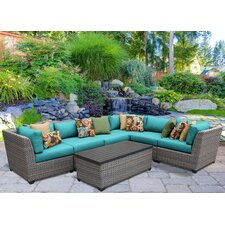 Florence 7 Piece Lounge Seating Group Set with Cushion