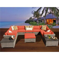 Monterey 12 Piece Deep Seating Group with Cushion